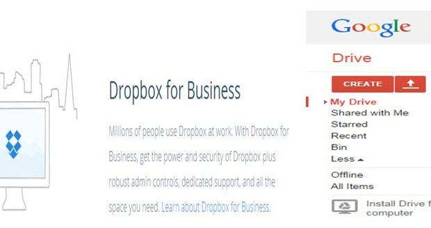 VA use Google drive and dropbox