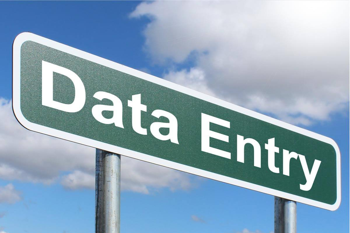 Becoming Data Entry Operator Image in Outsource Workers - Big Data Entry Sign Board