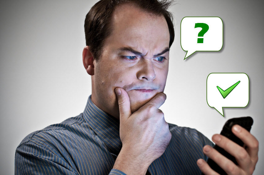 Best Social Media Platform Image in Outsource Workers - Puzzled Man on the Phone