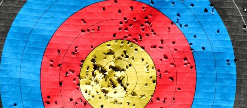 Better Research and Prospecting Image in Outsource Workers - Paper Dart Board Bullseye Target Board