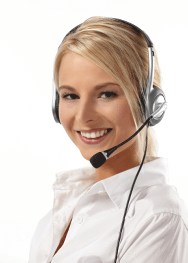Cold Calling Myths Image in Outsource Workers - Smiling Red Head Call Center Agent