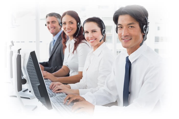 Contact Center Image in Outsource Workers Happy and Willing Customer Service