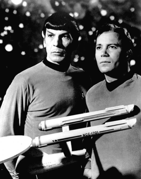 Content Writing and Copywriting Image in Outsource Workers - Kirk and Spock Image Black and White
