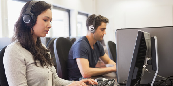 Data Entry Key Skills Image in Outsource Workers - Great Interpersonal Skills Call Center Agents at Work