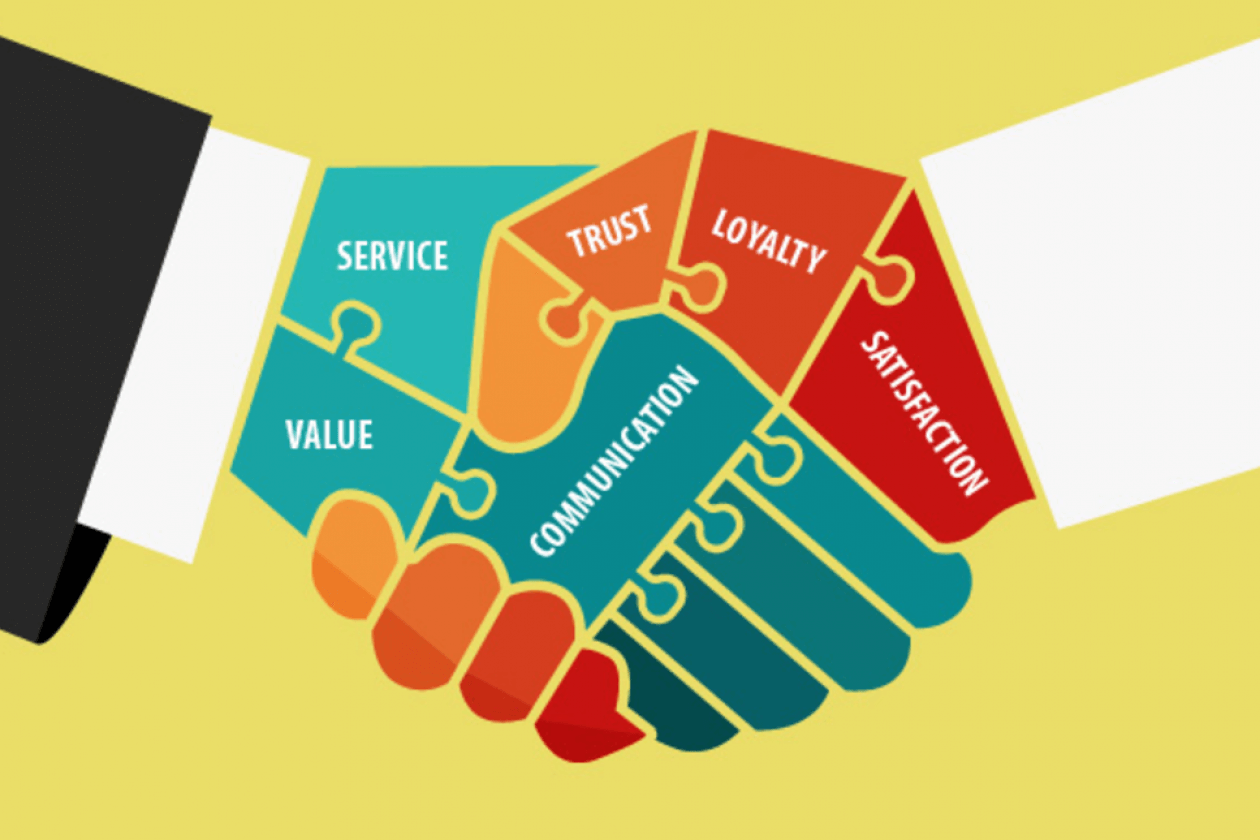 Data Entry Key Skills Image in Outsource Workers - Trustworthiness Shake Hands Image Illustration