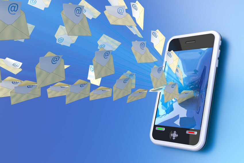 Delivering Marketing Content by SMS Marketing Image in Outsource Workers - Emails and Messaging Going Out of Cellphone