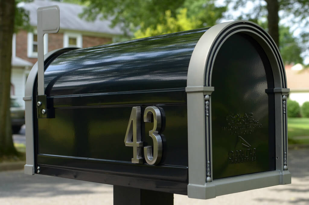 Direct Mail Marketing Campaigns Management Image in Outsource Workers - Black Mailbox in the Ground