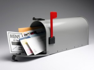 Direct Mail Marketing Campaigns Management Image in Outsource Workers - Stuffed Filled Mailbox Grey