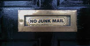 Email Marketing Planning Image in Outsource Workers - Content Marketing No Junkmail Sign on the Door