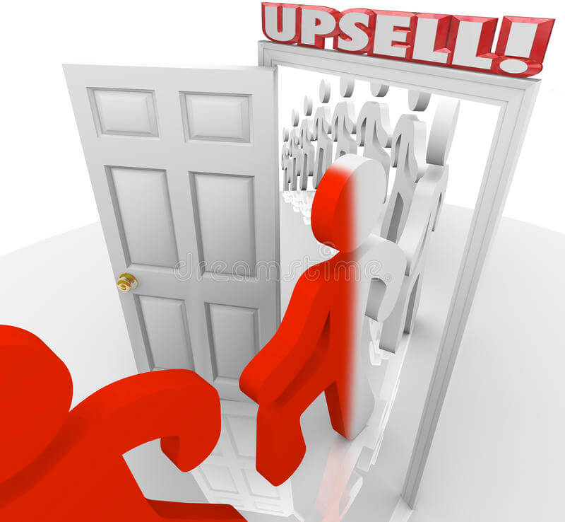 Existing Clients Upsells Image in Outsource Workers - Upselling to Existing Clients Image Illustration on Door