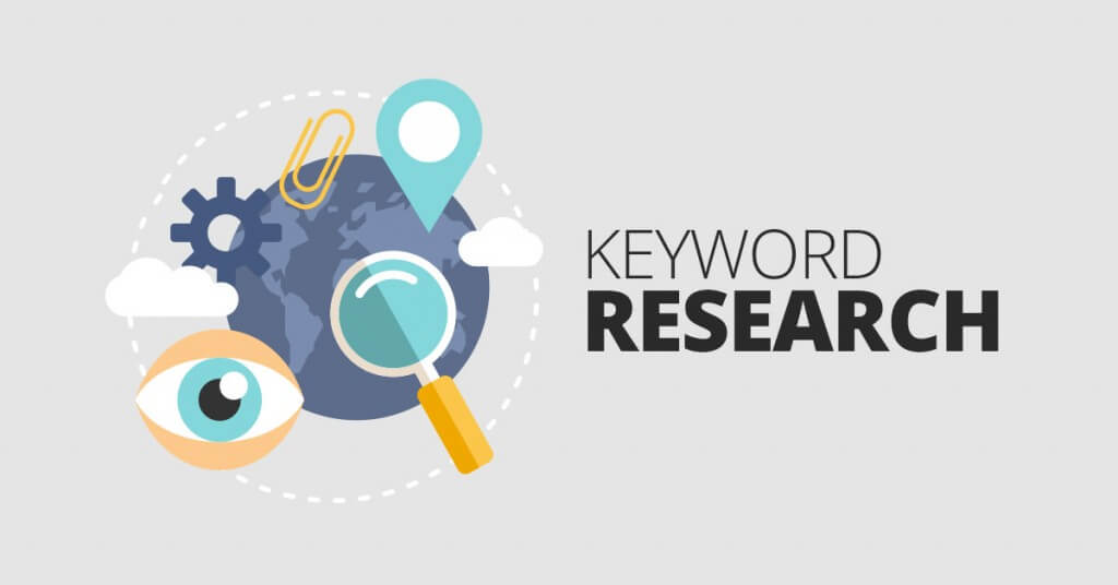 Google Adwords Making Image in Outsource Workers - Keyword Research Image Illustration