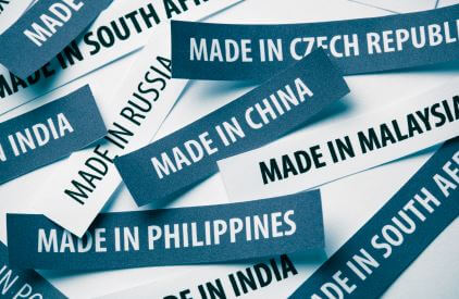 Offshoring and Outsourcing Advantages Image in Outsource Workers - Made in China, India Philippines Tag Labels