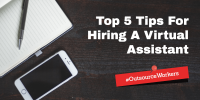 Outsource Virtual Assistant Hiring Image in Outsource Workers - 5 Tips of Hiring Virtual Assistant Image Banner