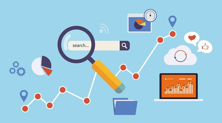 Outsourcing Marketing Tasks Image in Outsource Workers - Search Engine Optimization SEO Image Illustration