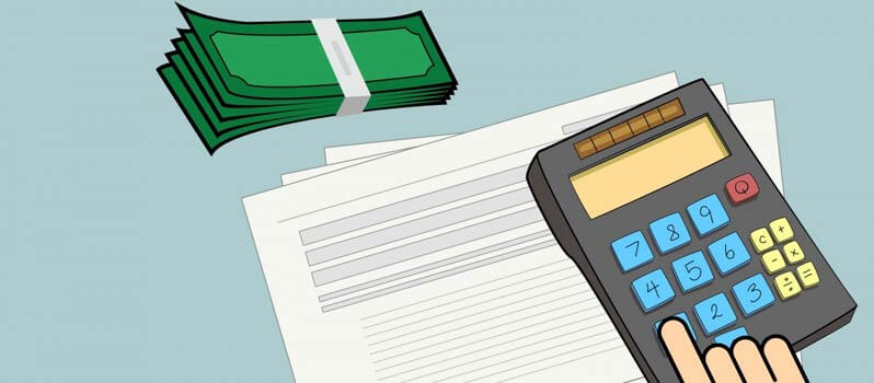 Paying Virtual Assistant Pricing Image in Outsource Workers - VA Pricing Image Illustration Dollar and Calculator