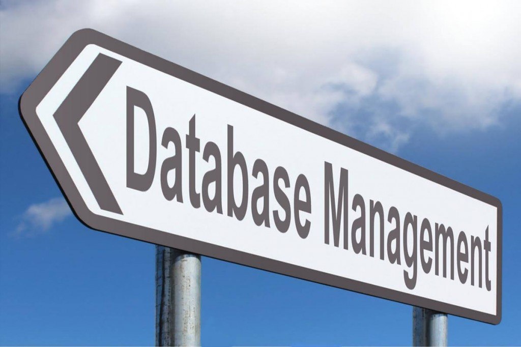 Productivity with Hiring Database VA Image in Outsource Workers - Database Management Signage Cloudy Background