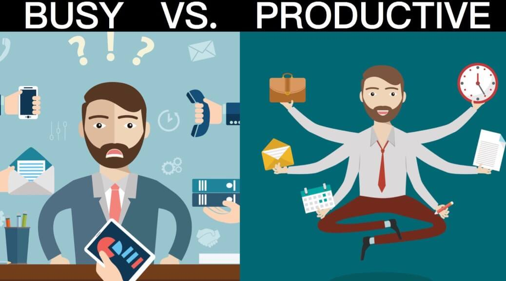 Real Estate Admin Tasks Outsourcing Image in Outsource Workers - Busy vs Productive Illustration Image