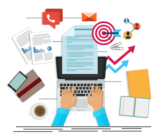 Time Consuming Admin Tasks Image in Outsource Workers Data Entry Tasks Logs and Emails