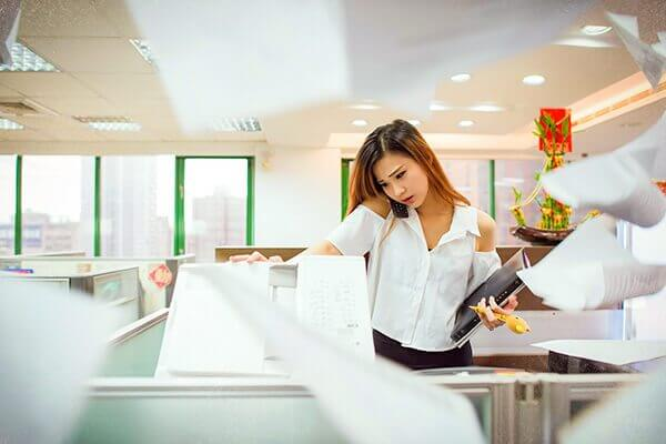 Time Consuming Admin Tasks Image in Outsource Workers Photocopy and Miscellaneous Tasks - Busy Girl