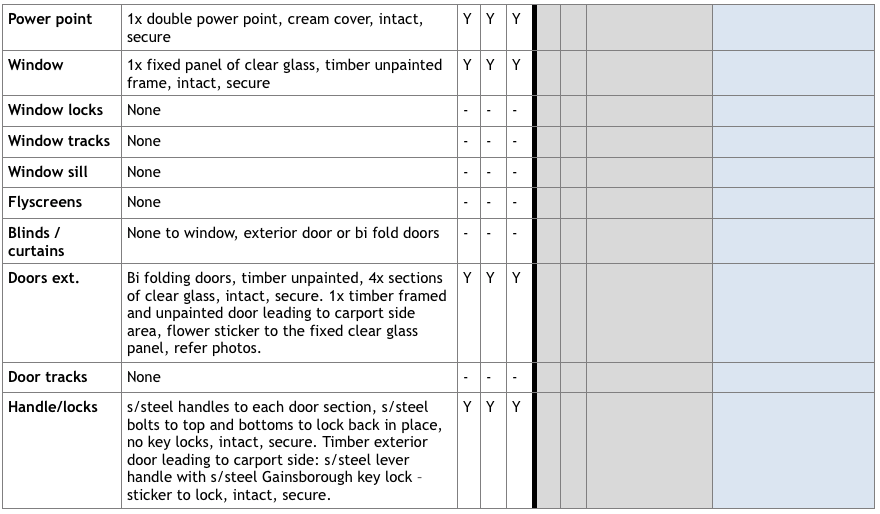 Transcribing Entry Condition Reports Image in Outsource Workers Table of Meals Area Power Point Windows Page 19
